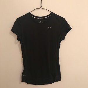 Nike Black Dri-Fit Short Sleeved Top